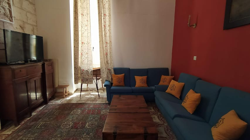 Living room, with TV