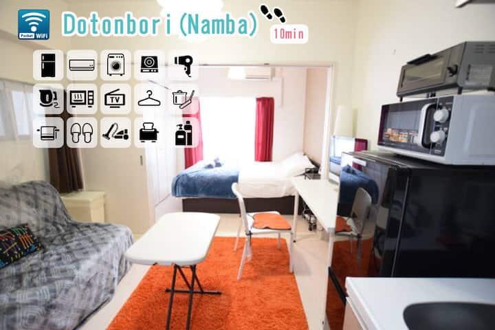 Cute room! 10min to walk to Shinsaibashi  area