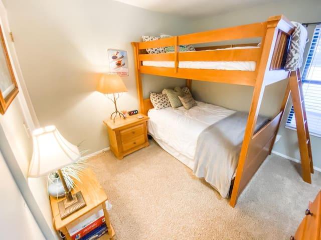 Full size mattress bunk beds in bedroom #2