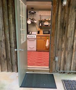 """Main cabin entrance, 36"""" door."""