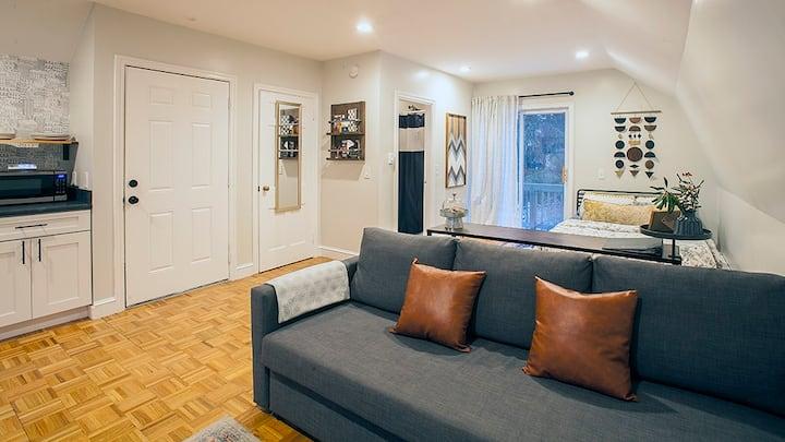 Comfort and Convenience in a Private Studio