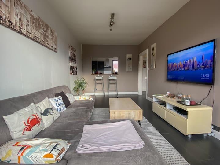 Agréable appartement de 50m2, wifi, parking