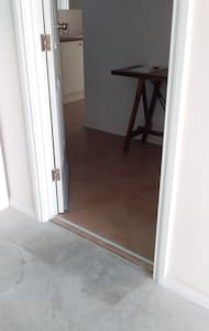 entrance from the garage door