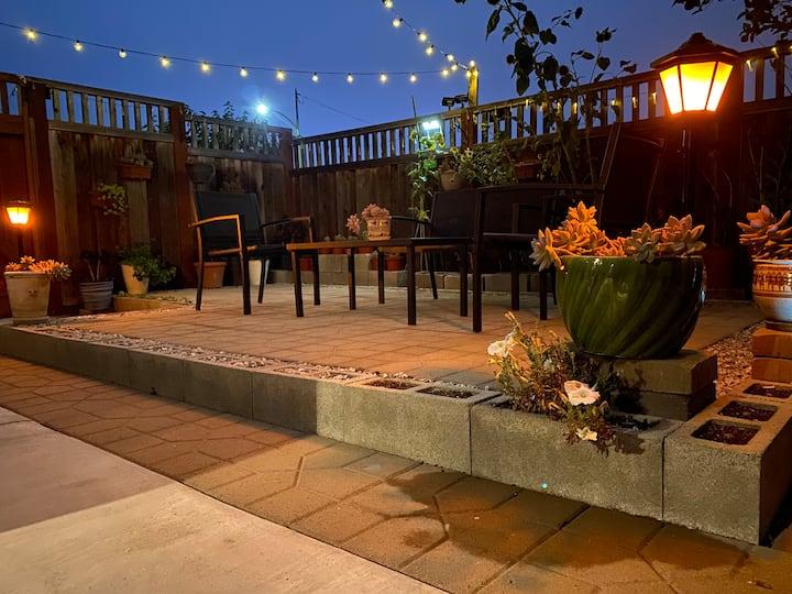 Business travel bliss exclusive garden patio