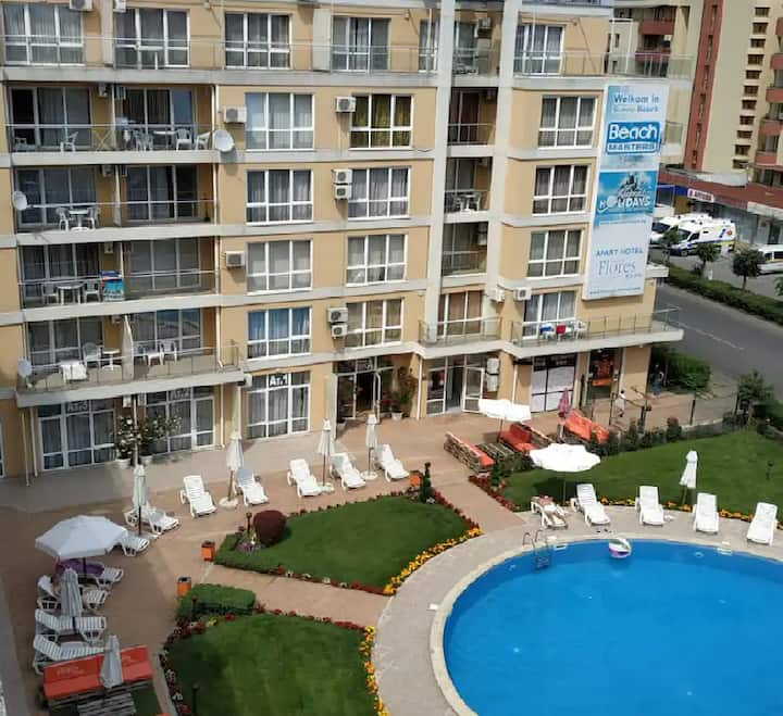 Comfortable 2 room apartment , central Sunny Beach