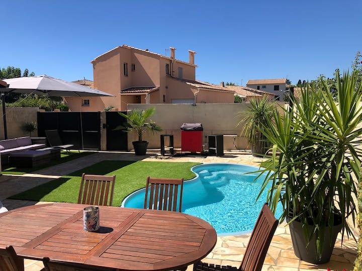 Jolie maison spacieuse proche de Montpellier