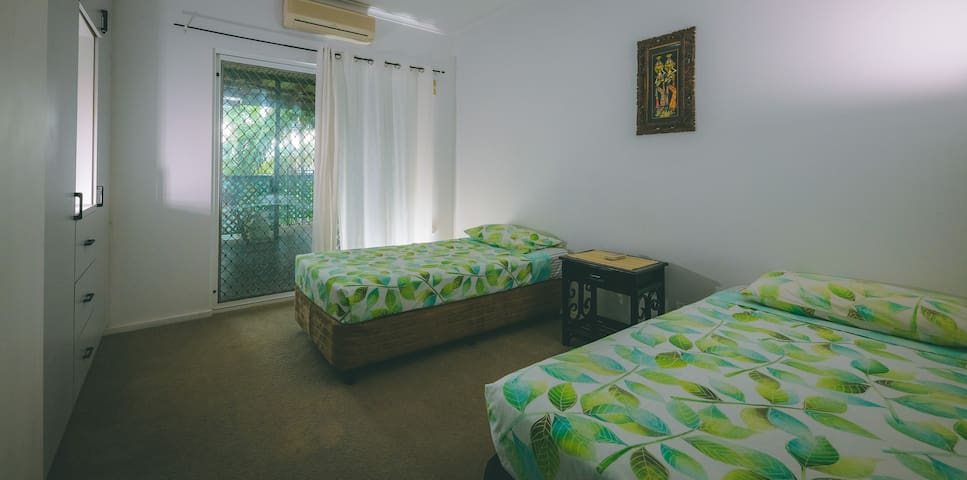 Twin Bedroom with access to verandah