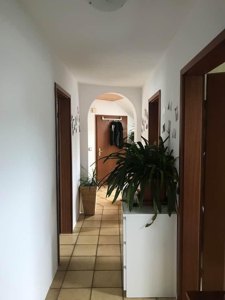 Ruhiges Privatzimmer, große Wohnung mit Weitsicht