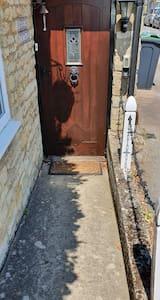 A gentle slope to my front door