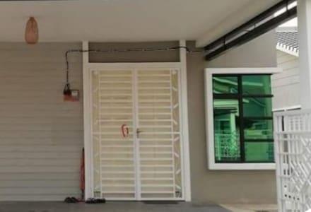 Main entrance door with almost two meter width