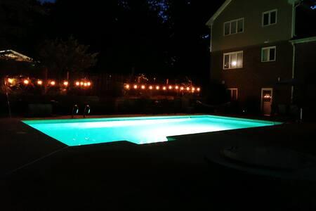 Patio lighting/ overhead lighting available as well