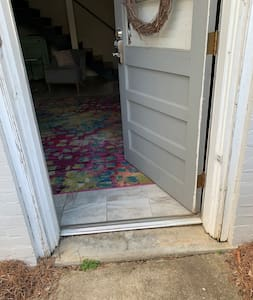 This is the entrance into the guest house from the parking lot