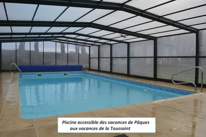 Gîte 8p aux Portes d'Etretat avec piscine