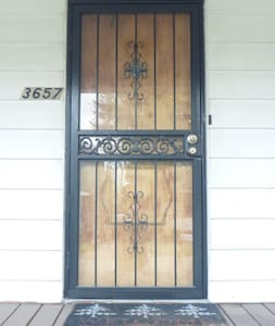 "32"" wide front door.  Small 1' lip to enter the home."