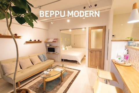 BEPPU MODERN*Renovated*FreePark*mWifi*6ppl*7minSt