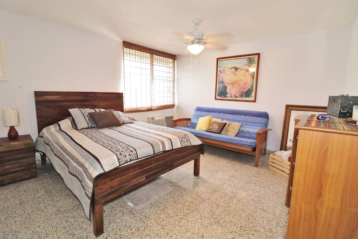 Master Bedroom with air condition and fan