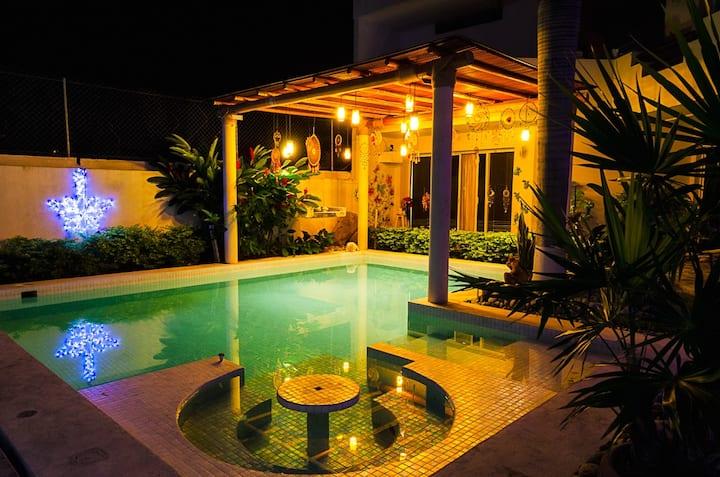Encantadora Habitación Privada Azul