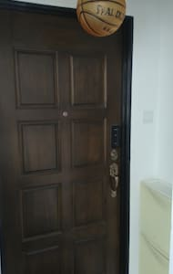 Wide  access main entrance door auto electronic keyless door measuring 34 inches path user friendly access