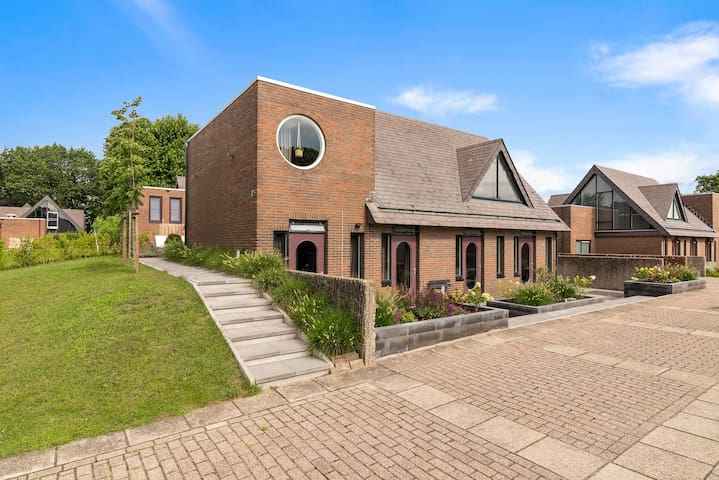 Modern villa near forest and lakes in Friesland