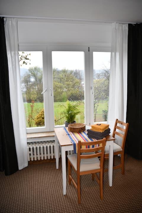 Kleine Wohnung mit Aussicht auf den Neckar