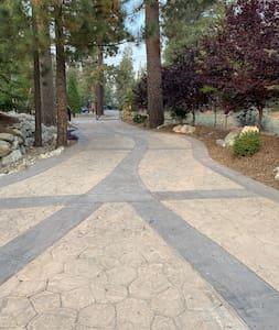 Photo of driveway facing street.  Driveway can accommodate 5 cars maximum.