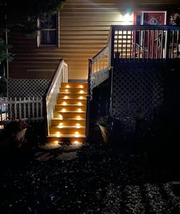 Steps leading to apartment