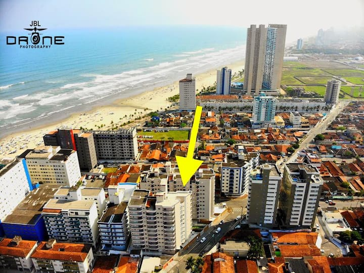 HOME-OFFICE NA PRAIA? APTO 1 DORM, 50 M/MAR P.G