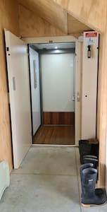 For guest with mobility needs, there is an internal lift that provides access to all floors. Lift has a wide entrance suitable for wheelchairs. Lift door width is 87 cm (34.25 inches) and internal lift width is 95 cm (37.4 inches)