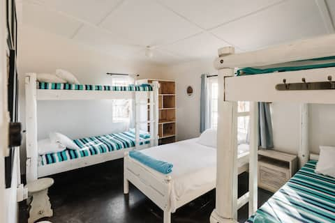 Beach Front Dorm Room, shared room or private Room