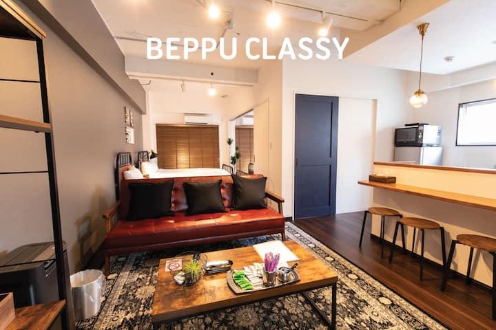 BEPPU CLASSY*Renovated*FreePark*mWifi*7ppl* 7minSt