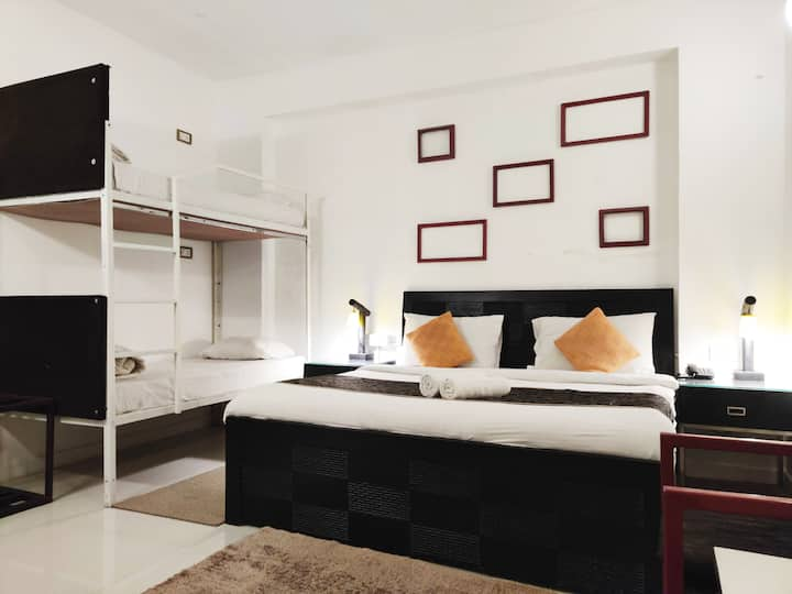 Private King Room for 2-4 (Boutique Hostel- Baga)