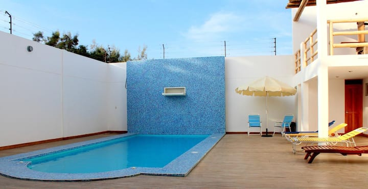 Private comfy apartment Paracas-2 couples, 1 pers