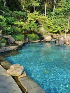 Pool with pool hoist