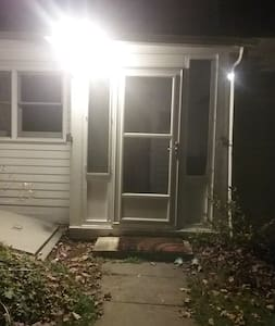 Motion detector and solar lights at entry