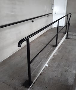 Ramp from private carpark.  lift inside to your apartment as soon as you enter.