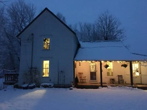 Slate Creek Farmhouse ~ Winter  in the Country!