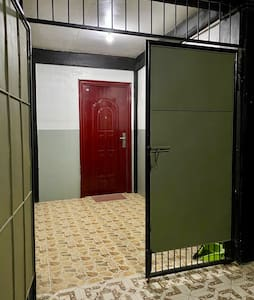 Main entrance of transient house is in the same level of parking area suitable for elderly and PWD.