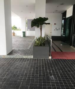 Entrance to main lift lobby