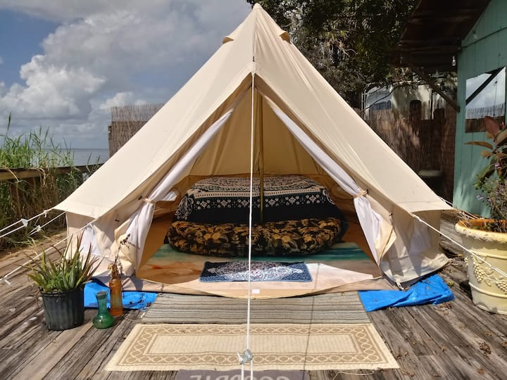 Romantic Waterfront Glamping Tent for Couples