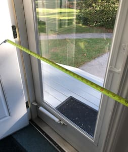 """Doorway opening is 34"""" wide. Door is a 36"""" wide"""