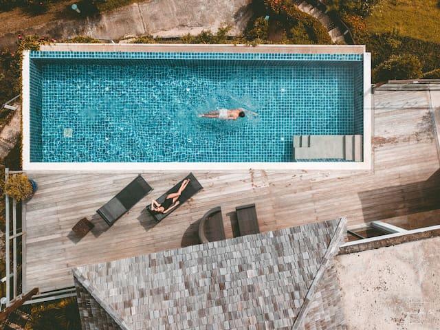 2 Floors Pool Villa+Free Pak Bia trip+ Yoga class