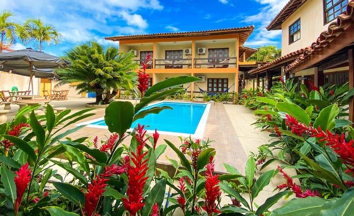 Apto p/ 3 pessoas - Centro de Porto - Hotel Malibu