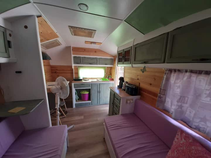 Newly refurbished vintage style Caravan.