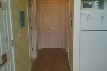 The hallway in the cottage is 48 inches wide for easy movement
