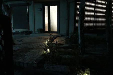 Front Door Area at Night