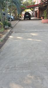 driveway going to the main entrance