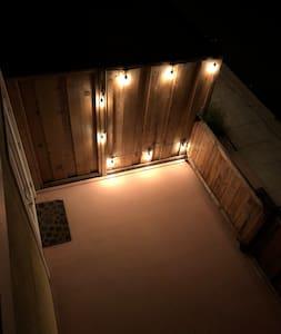 Plenty of exterior lighting