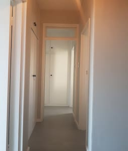 Wide passage ways throughout the apartment.