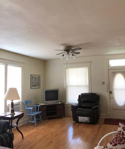 Wide living space with easily movable furniture. If anything needs to be moved, please let our hostess know.