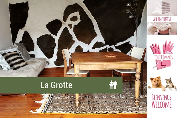 La Grotte, cottage in the hills, near the sea
